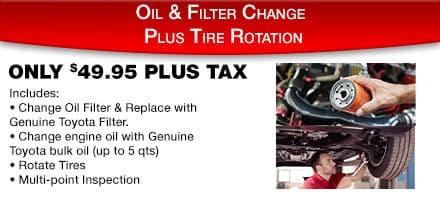 Oil & Filter Change Special
