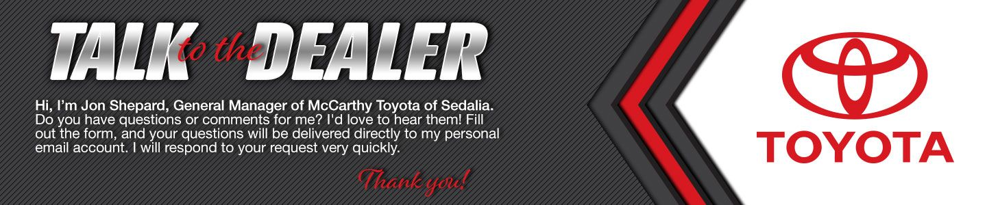 talk to the dealer, McCarthy Toyota of Slidell