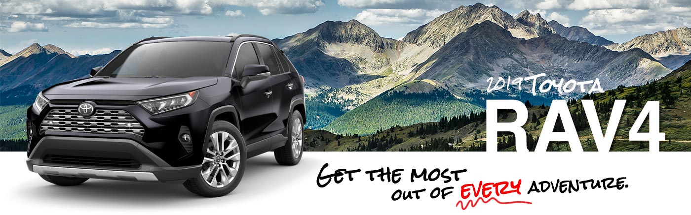 2019 Black Exterior Rav4 On Road at Toyota of Burleson