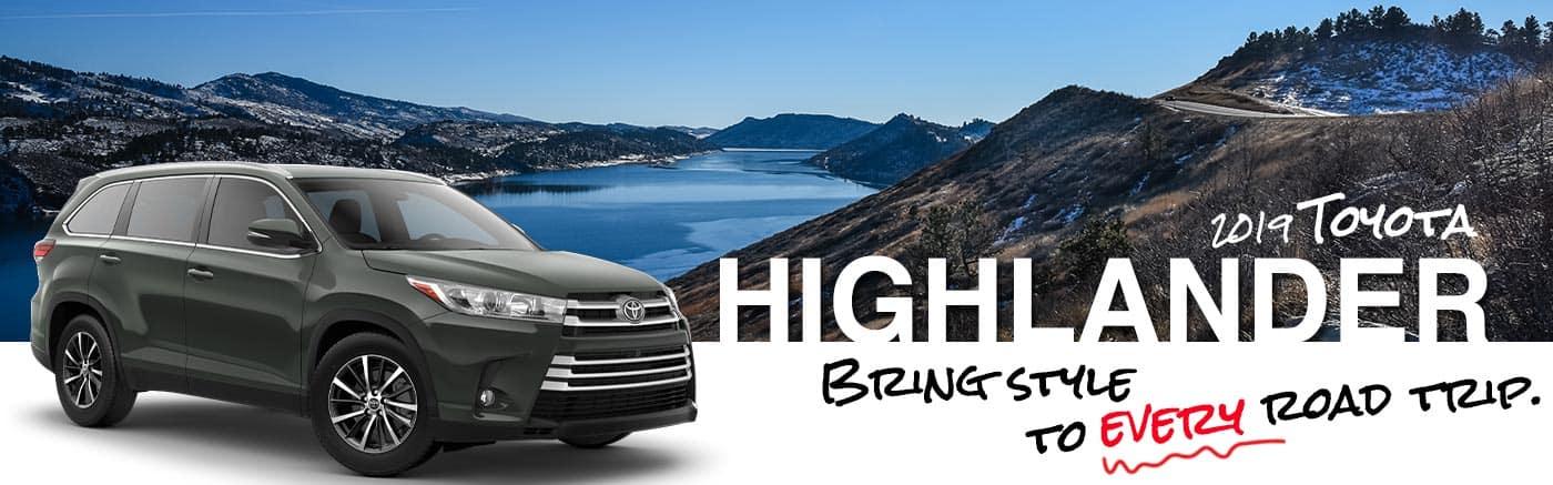 Al Hendrickson Toyota 2019 Highlander On Road