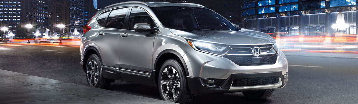 2019 Honda CR-V outside in city at night