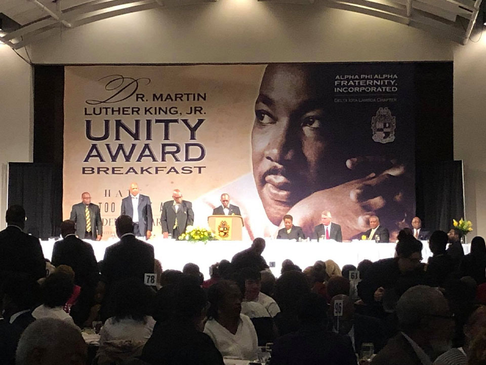 33rd Annual MLK UNITY AWARD Breakfast - Jan 2019