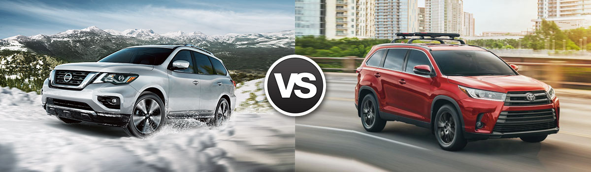 2019 Nissan Pathfinder vs 2019 Toyota Highlander