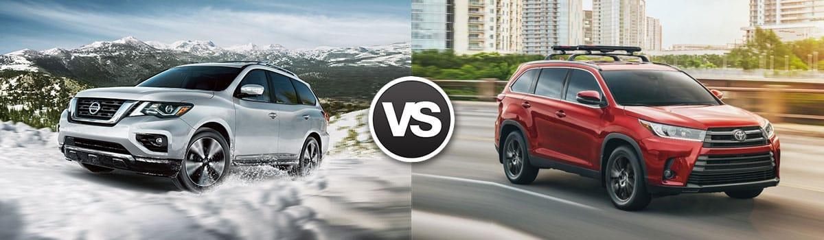 2018 Nissan Pathfinder vs 2018 Toyota Highlander