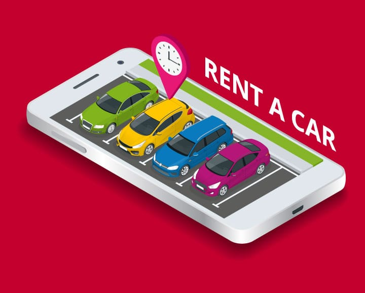 Rental car vector art