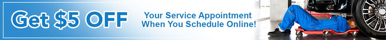 Schedule Service Get $5 OFF Online