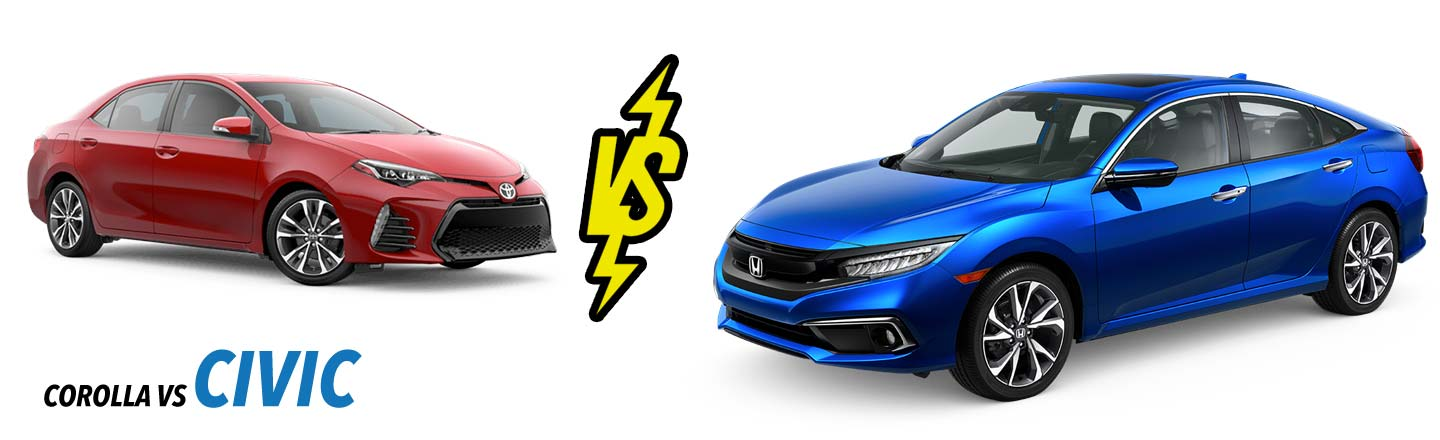 2019 Honda Civic vs Toyota Corolla