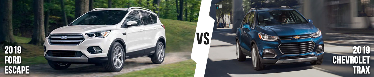 2019 Ford Escape vs. 2019 Chevrolet Trax in Bloomington, IN