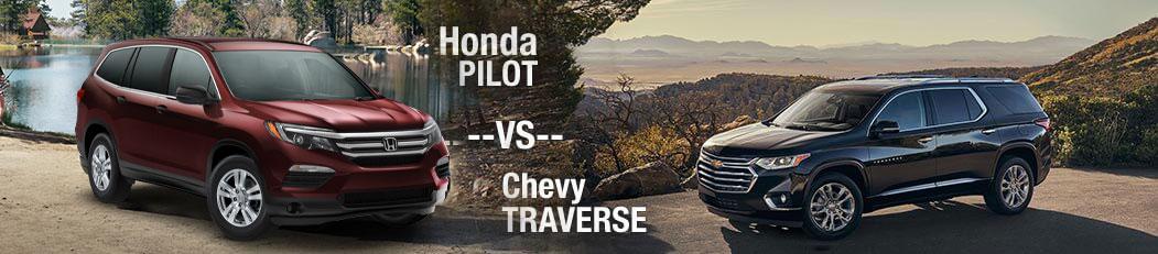 2018 Honda Pilot vs. 2018 Chevrolet Traverse