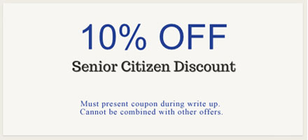 Senior Citizen : 10% OFF Discount