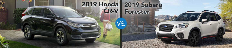 2019 Honda CR-V vs. 2019 Subaru Forester in Westerville, OH