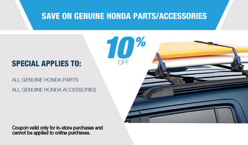 Save On Genuine Honda Parts/Accessories