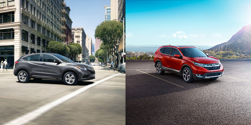 2019 Honda HR-V vs CR-V exterior