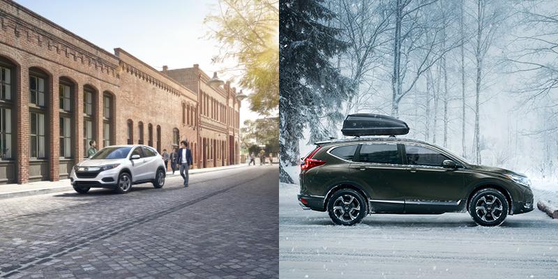 2019 Honda HR-V vs CR-V technology