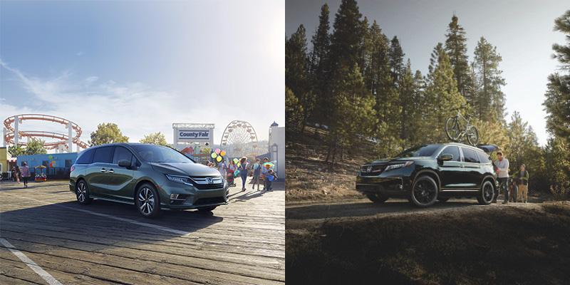 2019 Honda Odyssey vs Pilot exterior