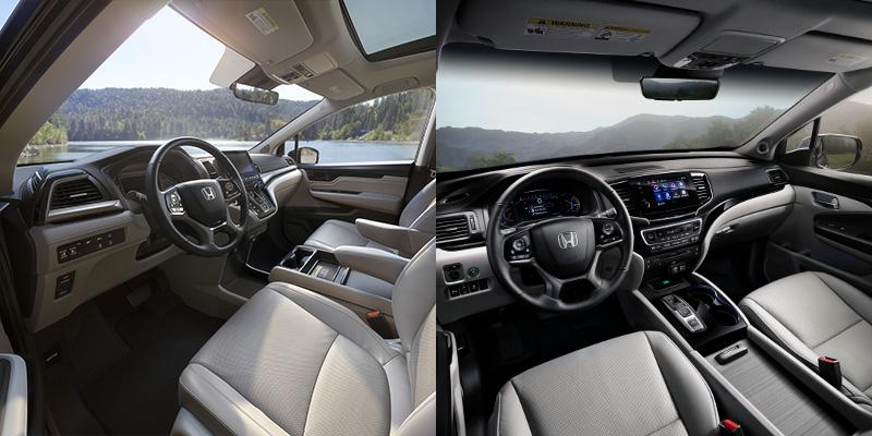 2019 Honda Odyssey vs Pilot interior
