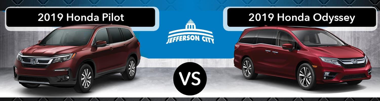 2019 Honda Odyssey vs 2019 Pilot