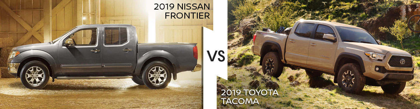 2019 Nissan Frontier Versus 2019 Toyota Tacoma
