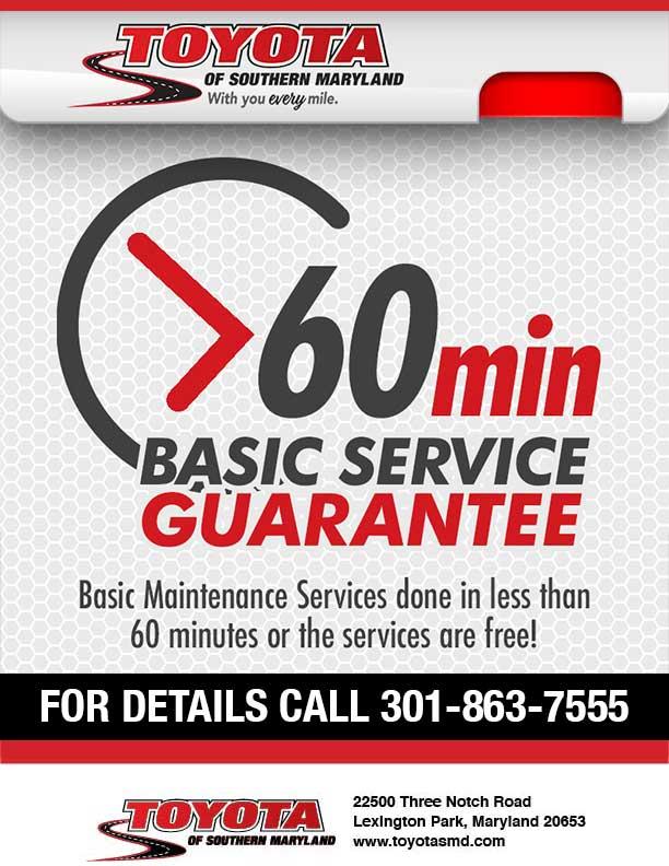 60 mins service