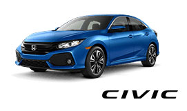 New Light Blue Honda Civic Vehicle Exterior
