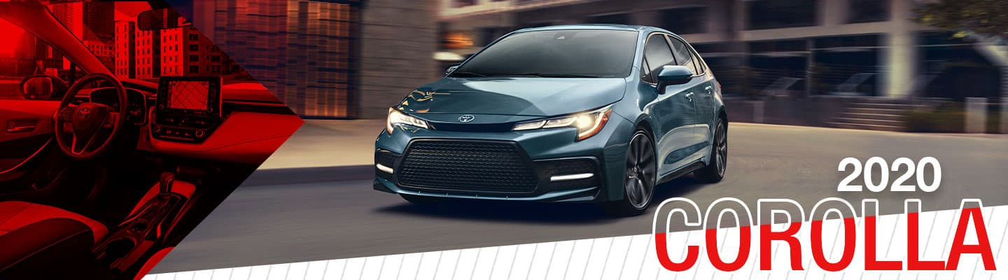 2020 Blue exterior Toyota Corolla at Shottenkirk Toyota of Weatherford