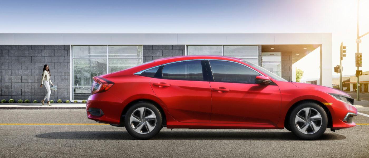 A red Honda