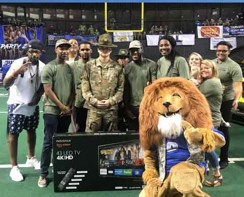 Columbus Lions Military Appreciation Night (May 2019)