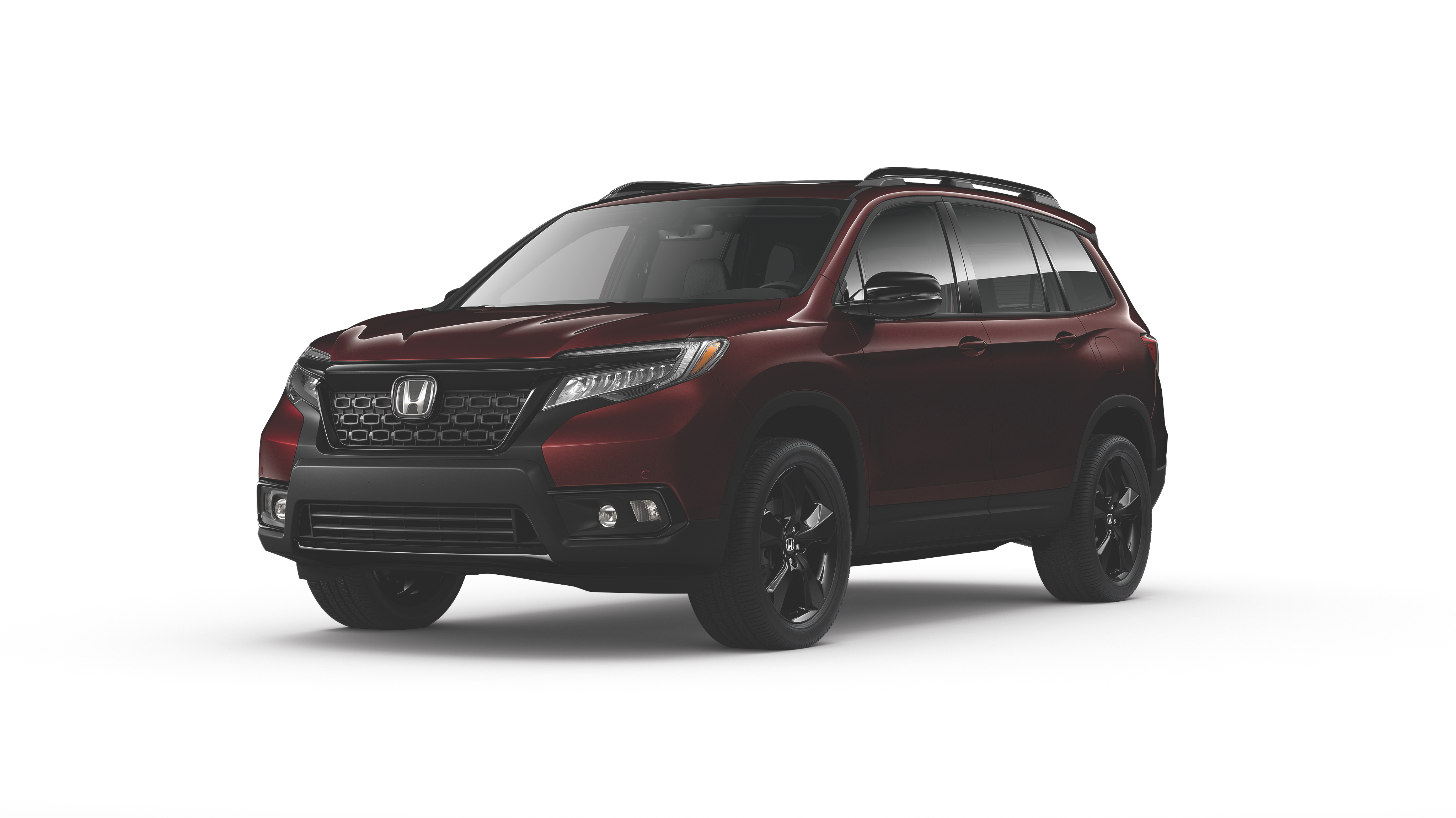 Red 2019 Honda Passport