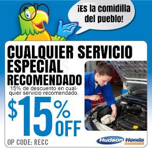 Cualqiuer Servicio especial recomendado