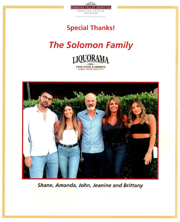 Special thanks: the Solomon Family