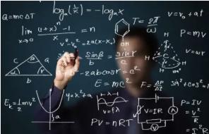 Math formulas on board