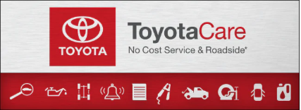 ToyotaCare: No Cost Service and Roadside.