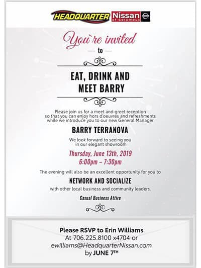 Eat, Drink, and Meet Barry