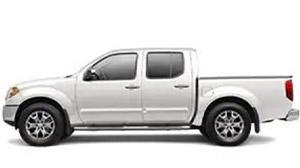 White Nissan Frontier work truck