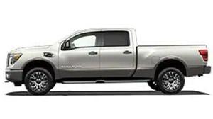 Silver Nissan Titan XD work truck