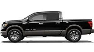 Black Nissan Titan work truck