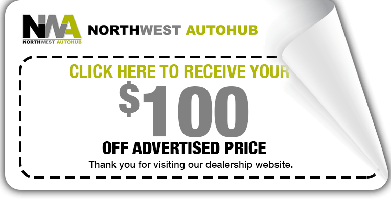 Northwest AUtoHub $100 discount coupon