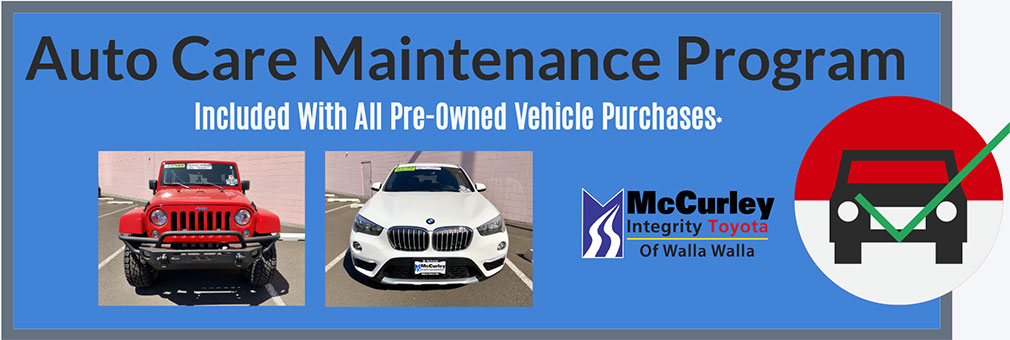 auto care maintenance program included with purchase on all qualified pre-owned vehicle