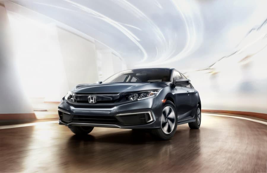 Honda Civic in tunnel