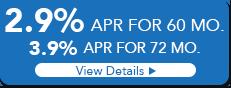 2.9% APR 60 MO. 3.9% APR 72 MO.