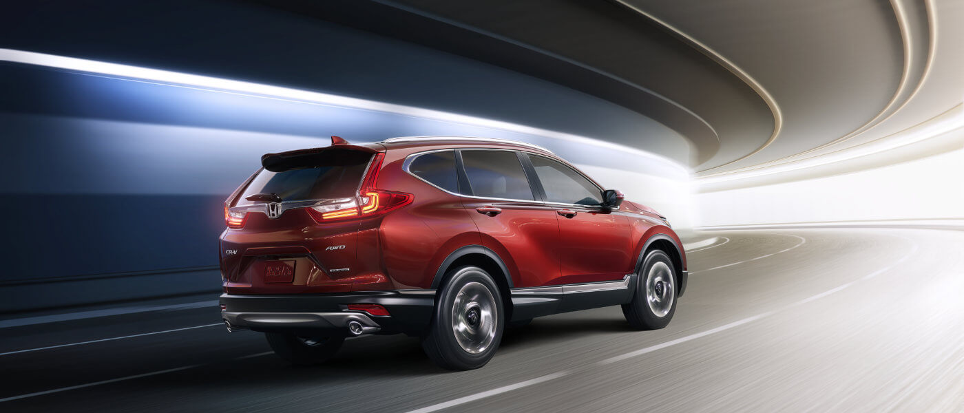 Red 2019 Honda CR-V in tunnel