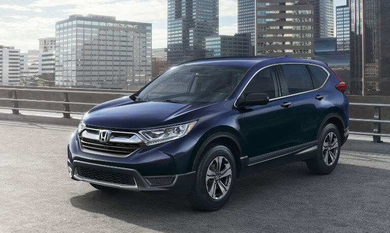 Blue 2019 Honda CR-V in parking lot