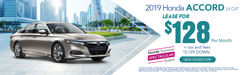 2019 Honda Summer Spectacular Event Honda Lease Offers