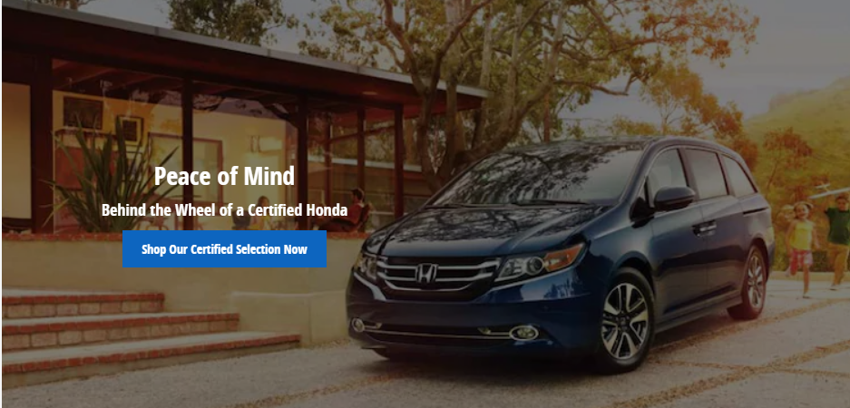 Behind the wheel of a Certified PreOwned Honda