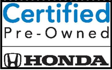 Honda Certified Pre Owned
