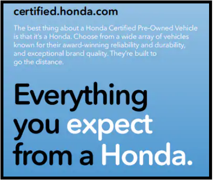 Everything you expect from a honda