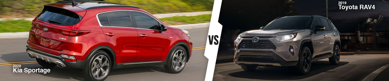 New Compact SUV Comparison: 2020 Kia Sportage Versus 2019 Toyota RAV4