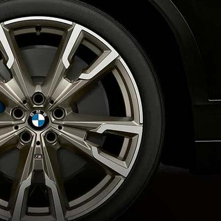 BMW wheel replaced at a BMW service center at BMW of El Cajon