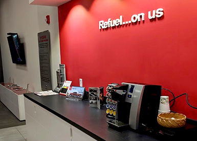 Coffee at Patriot Nissan