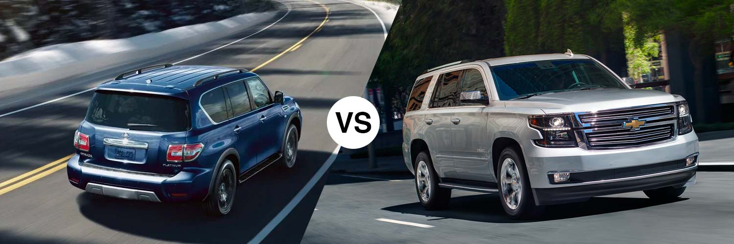 Compare the 2019 Nissan Armada and 2019 Chevy Tahoe in Metairie, LA